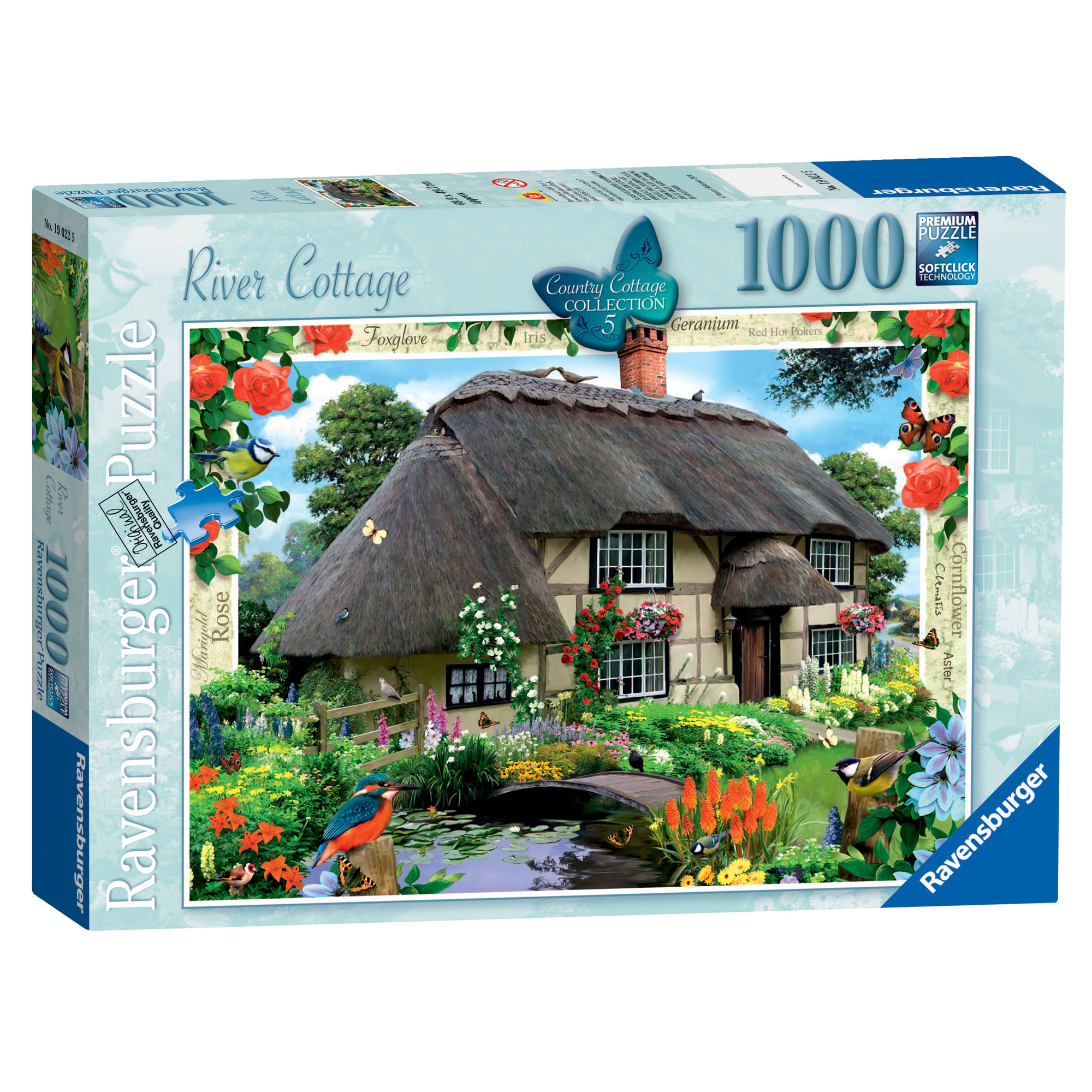 Ravensburger Country Cottage River Cottage 1000 Pc Puzzle