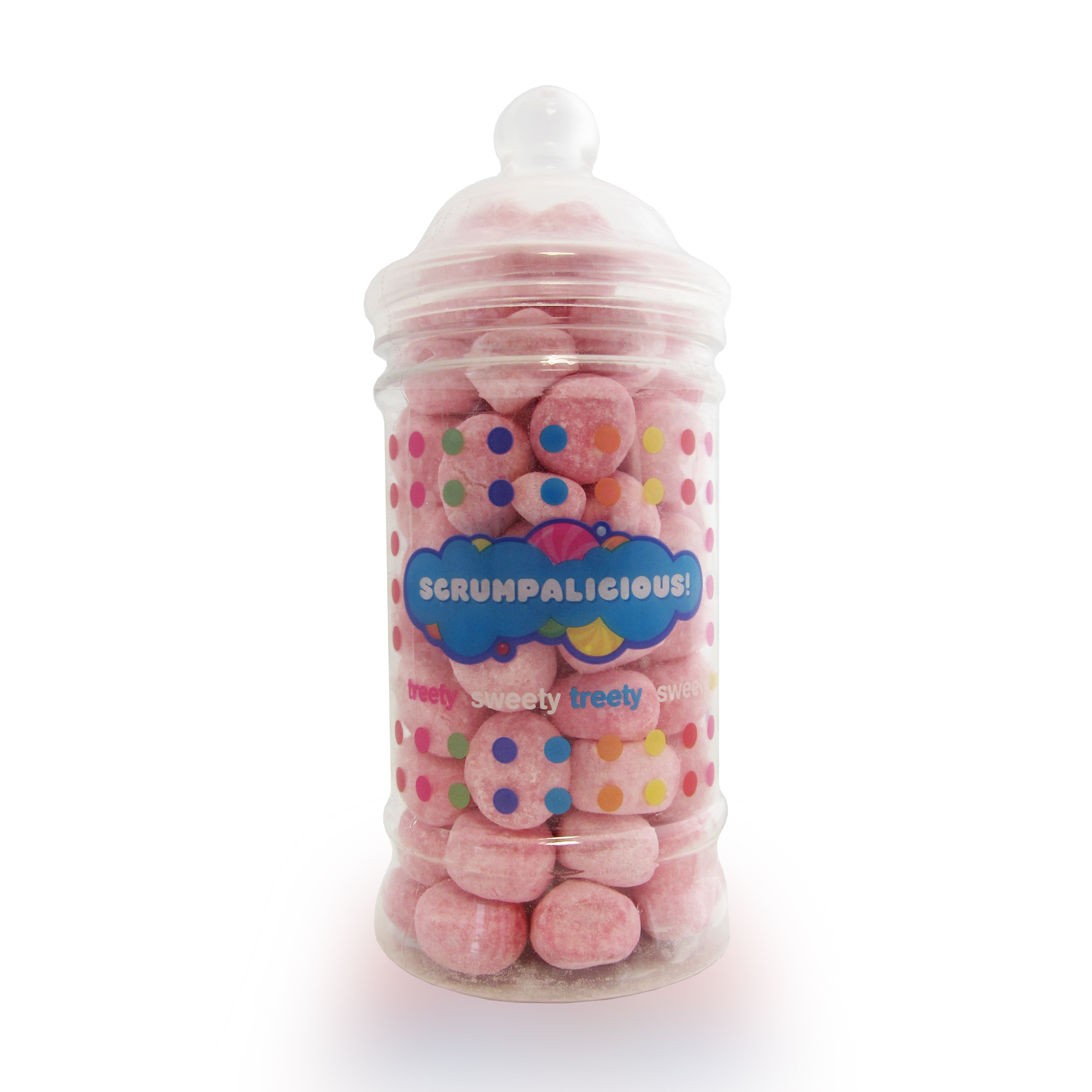 Strawberry Bon Bons Sweetie Jar - 40th Birthday Novelty Gifts