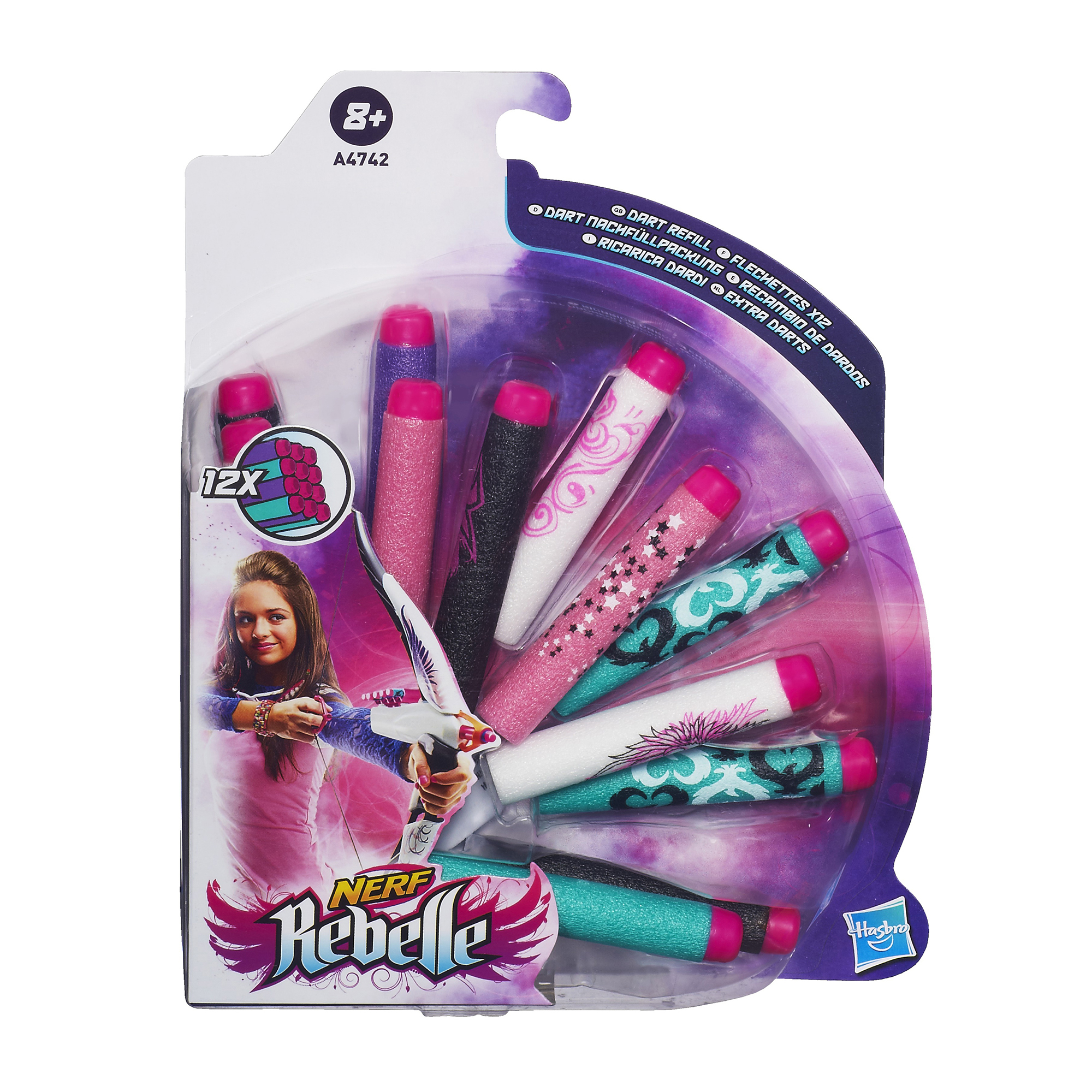 Nerf Rebelle Dart Refill Pack - Children's Birthday Your Kids Bday - 5th Birthday