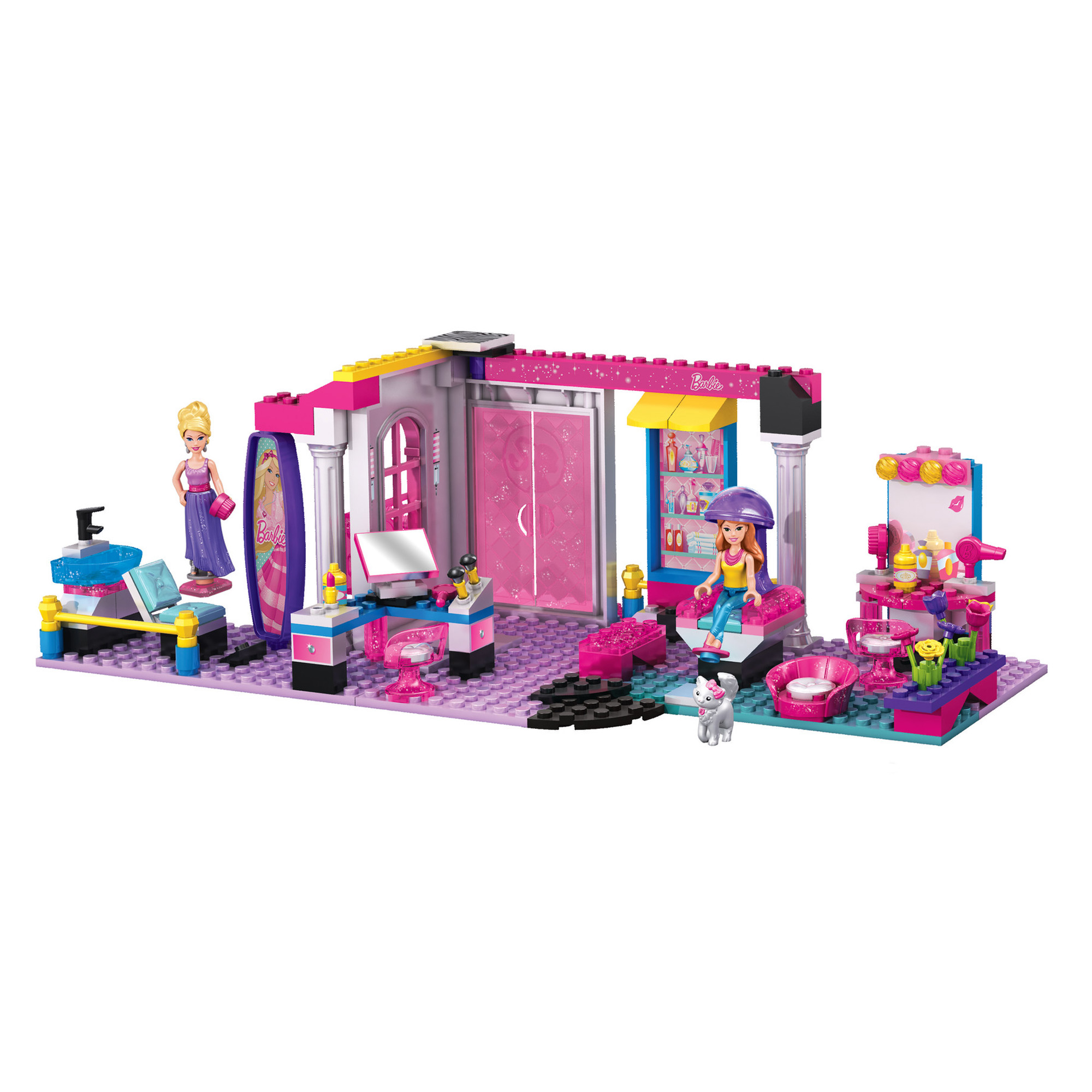 Mega Bloks Barbie Build N Style Glam Salon