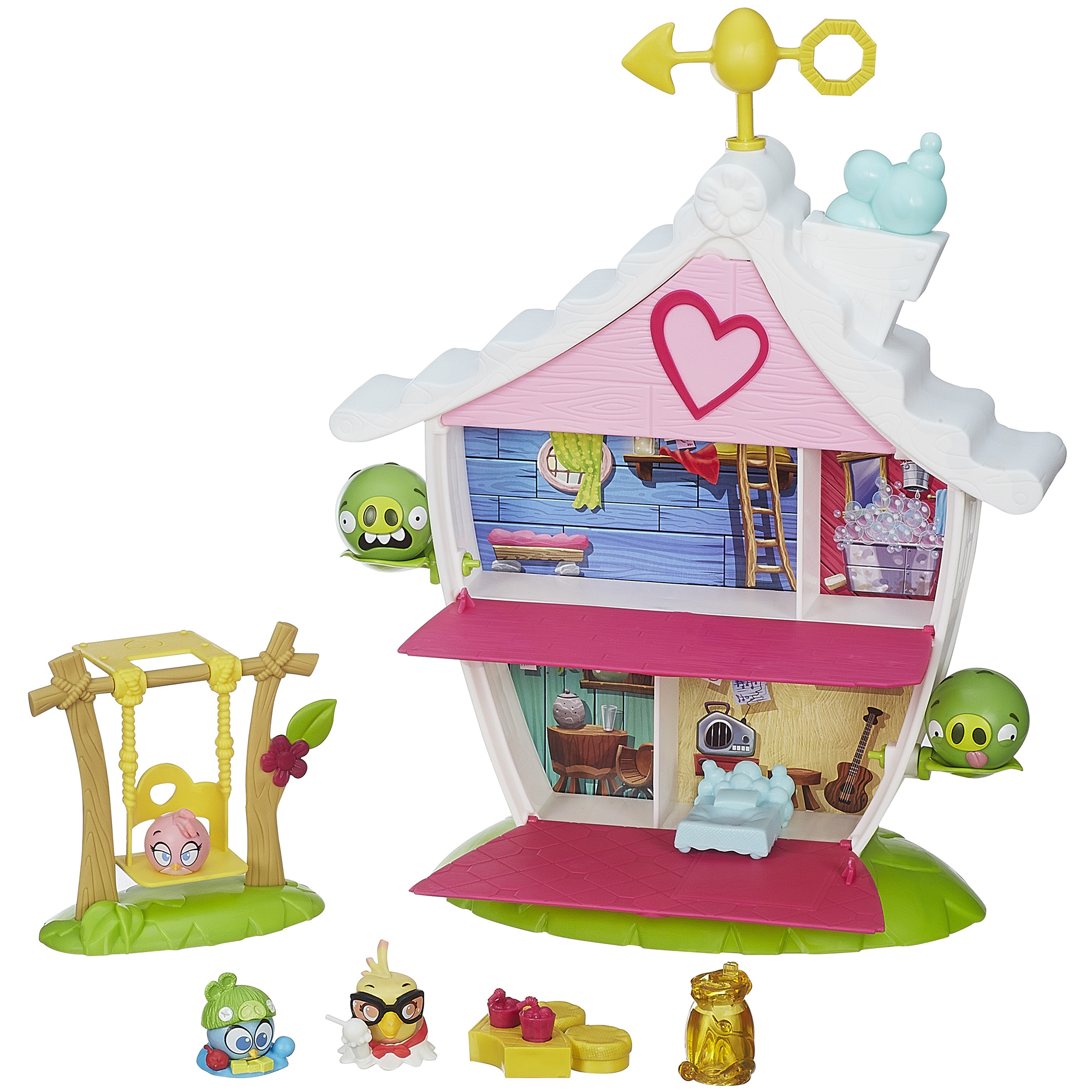Image of Angry Birds Stella Telepods Tree House Playset Game