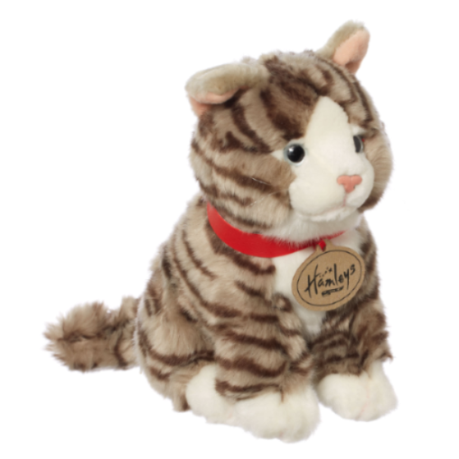 Hamleys Grey Tabby Cat Soft Toy