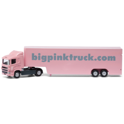 Corgi Big Pink Truck Isabelle Box Lorry