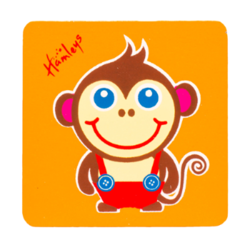 Hamleys Wooden Monkey Plaque
